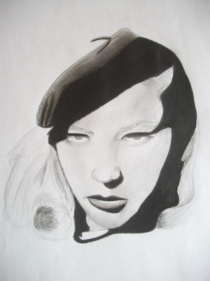 Lauren Bacall by Selene